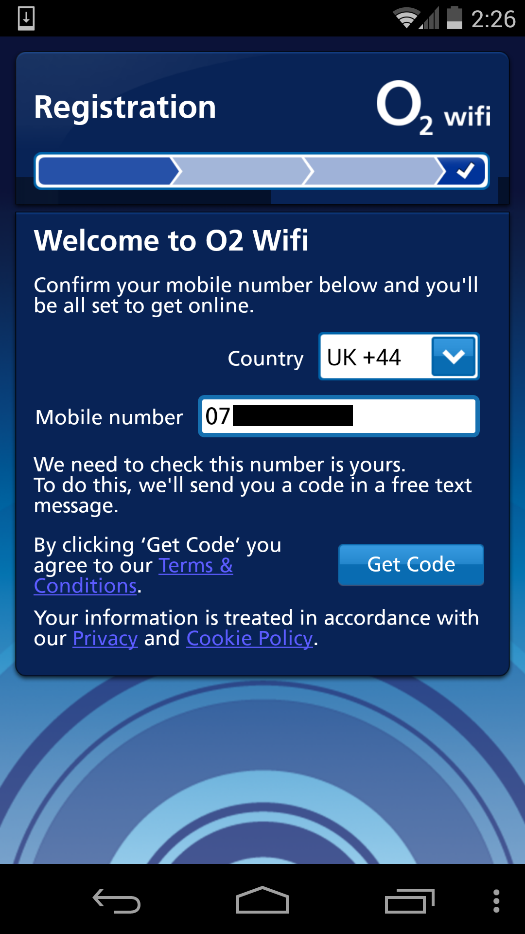 O2 Wifi app sends authentication and personal data over insecure